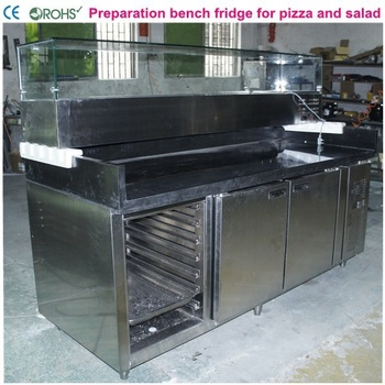 preparation bench fridge for pizza and salad