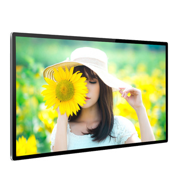 China latest 49 inch indoor LED advertising TV screen touch screen LCD media player for AD