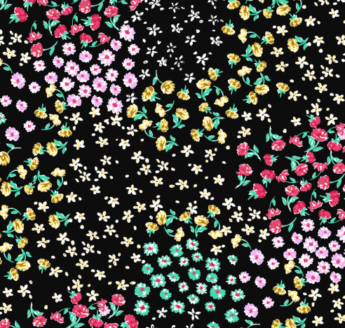 T/C Small Flower Printed Pattern Fabric