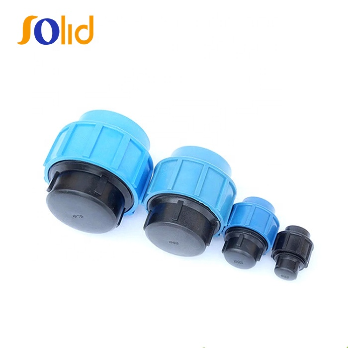 Quick Connect PP Compression End Cap Fittings