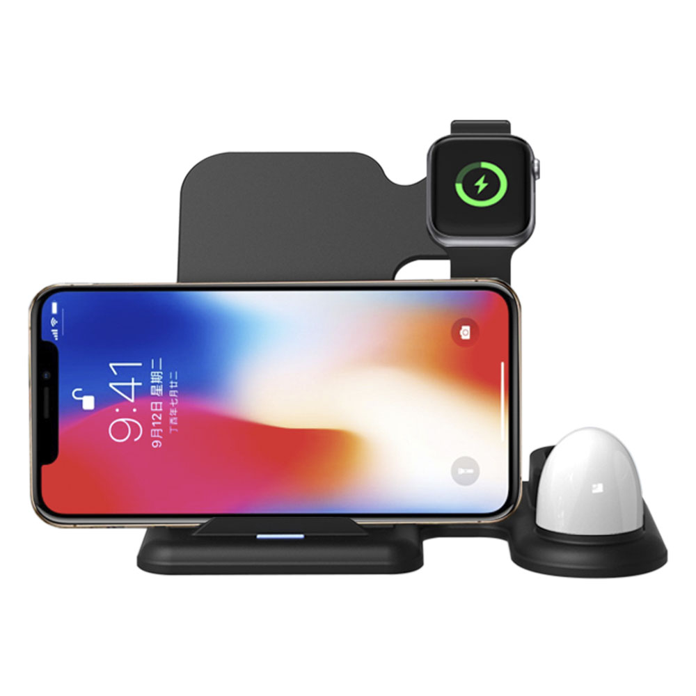 10W Quick Wireless Charger, Charging Station 3 in 1 Charging Dock for Headset and <strong>Watch</strong>