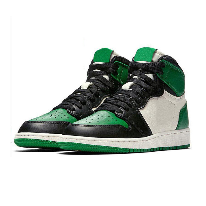 High Quality <strong>Mens</strong> High Pine Green Black jumpman J 1 Retro Basketball Shoes OG Chicago White Designer Sneakers <strong>Men</strong>