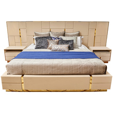 Modern Italian Design Luxury Upholstered King Size Bedroom <strong>Furniture</strong>