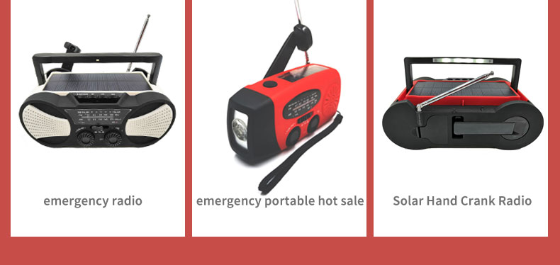 Portable FM/AM USB Power Supply Solar Hand Crank Radio With 2000 mAh Power Bank SOS Siren And Screen