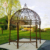 Large Garden outdoor Used Antique Green Horse Wrought Iron Gazebo NTIG-041Y