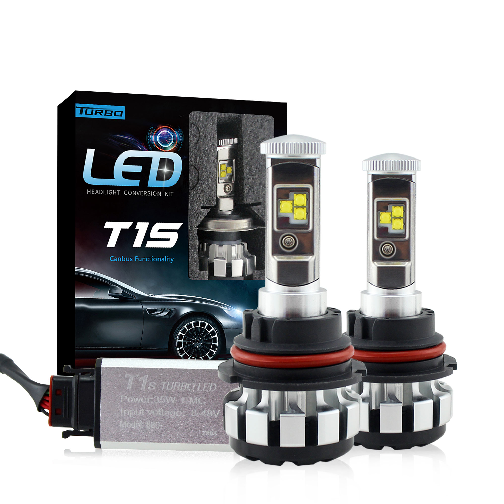 Raych Lighting 8000 Lumen H11 T1S LED Headlights Bulbs Fog Lights Extremely Super Bright Conversion <strong>Kits</strong> Replacement for Car