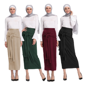 2019 best selling sexy girl skirt muslim women long maxi skirt