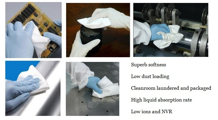 Wholesale LCD Terminal Wipes Dust Free Microfiber Cleaning Cloth In Roll Lint Free Cleanroom Wiper Cloth