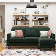 DingZhi Classic Sofa Set Velvet Fabric Sectional Sofa Living Room <strong>Furniture</strong>