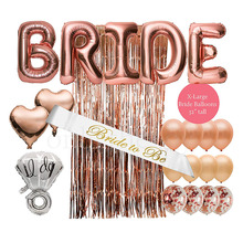 NICRO 22 Pcs Rose Gold Bridal Shower Decorations Kit Bachelorette Party <strong>Supplies</strong>