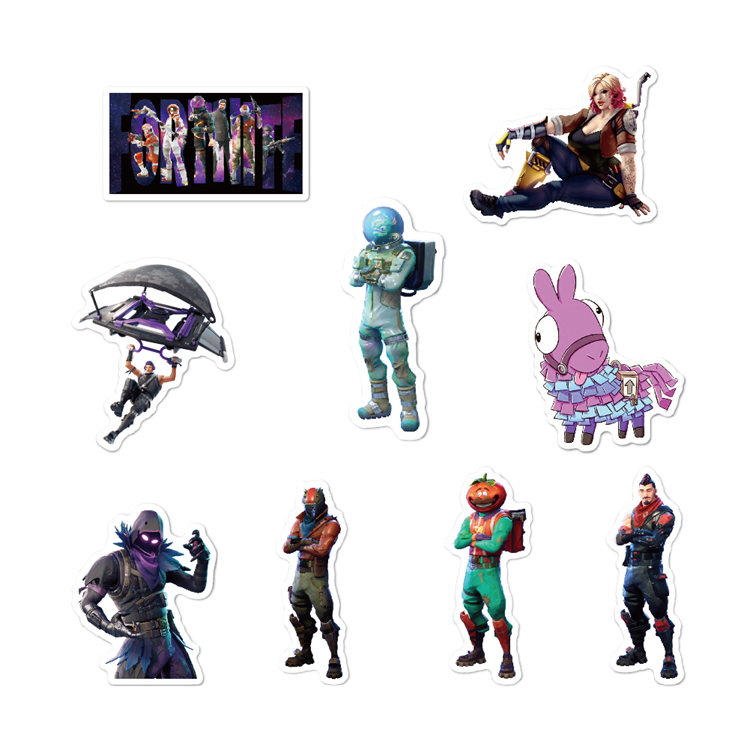 40 Pcs/Pack Stickers Laptop Adhesive Waterproof PVC Cartoon Design Stickers For Boys
