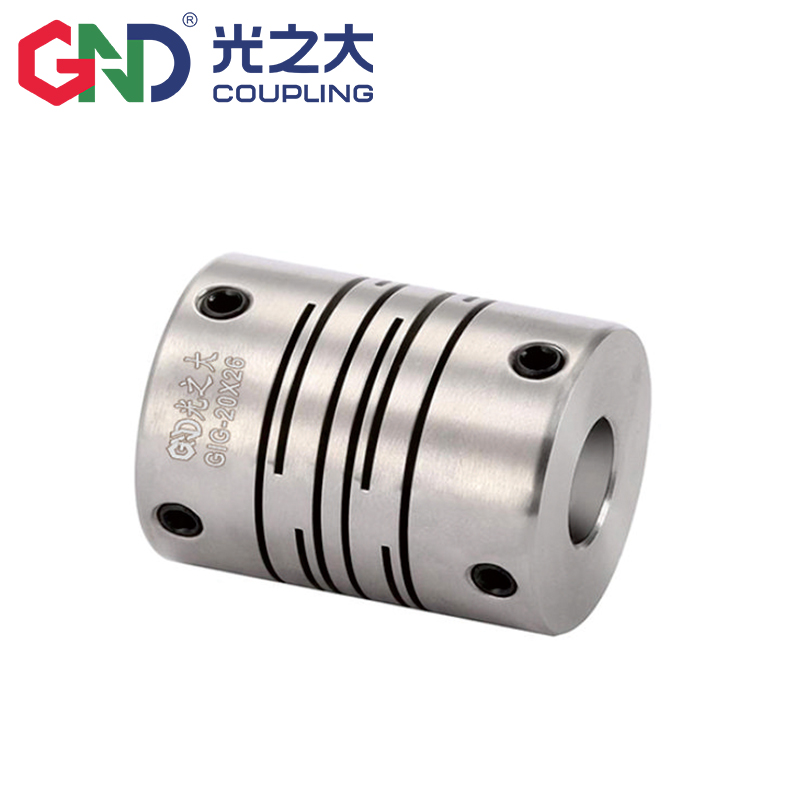 GIG Stainless Steel Parallel Lines Setscrew Flexible Shaft Coupling Series <strong>D12</strong> L18.<strong>5</strong> Step Motor Coupling 2mm~6.35mm