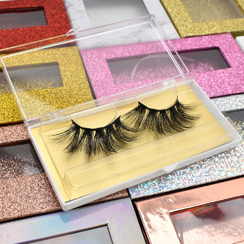 Custom Handmade 3D 5D 25MM Mink Eyelashes And Mink Lashes Private Label Lashes Packing Box