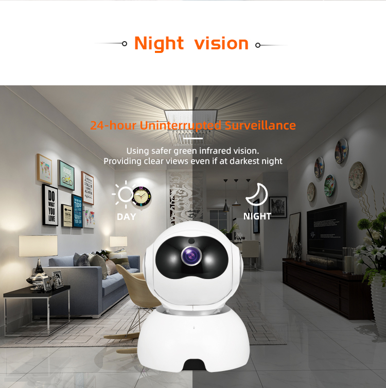 FHD 1080p / 720p Tuya PTZ  robot 360 full angle CCTV tracking motion video camera  two-way audio call