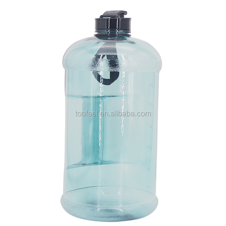1 Gallon Water Bottle with Carry Handle and Pop Up Straw BPA Free Tritan Plastic Leak Proof Water Jug