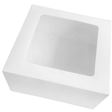 "Cake Boxes 10"" X 10"" X 5"", Bakery Boxes with Window for Cupcakes, Donuts, Pies, Cookies, Pastries, Cheesecake, Candy, Brownies"