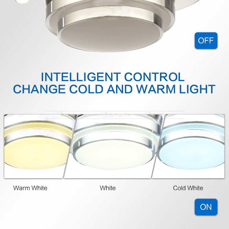 Hot Sell Retractable Decorative Ceiling Fans With Lights
