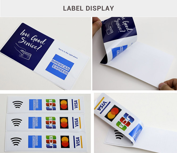 Custom Static Cling Self-adhesive Double Sides printed Decal sticker label for window