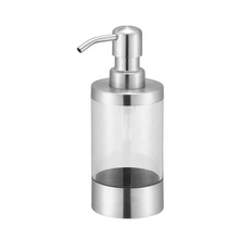 OEM ODM Bathroom Accessories Stainless Steel Pump Liquid Soap Plastic Bottles For Dishwashing Liquid Wholesale