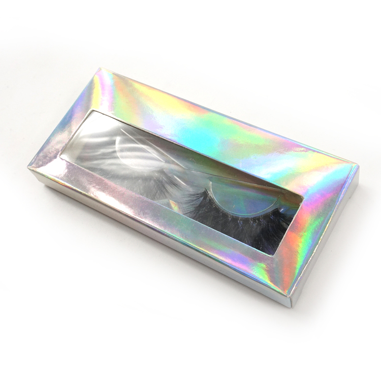 Holographic packaging box eyelash box packaging 3d mink lashes custom eyelash packaging box