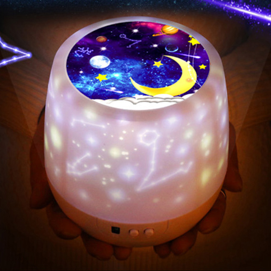 Romantic Colorful Rotation USB kids led night light laser starry Nebula Moon Star <strong>Projector</strong>