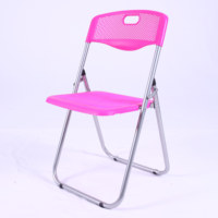 Hot Sell High Quality Cheap Outdoor Furniture PP Seat Metal Legs Folding Chair