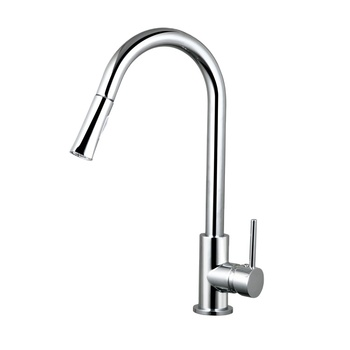 Single handle kitchen sink pull down water tap with pull out sprayer head