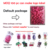 2020 New Arrivals Latex Free Purple/Pink/Green waterdrop hydrophilic polyurethane beauty Makeup Blender 3D make up sponge