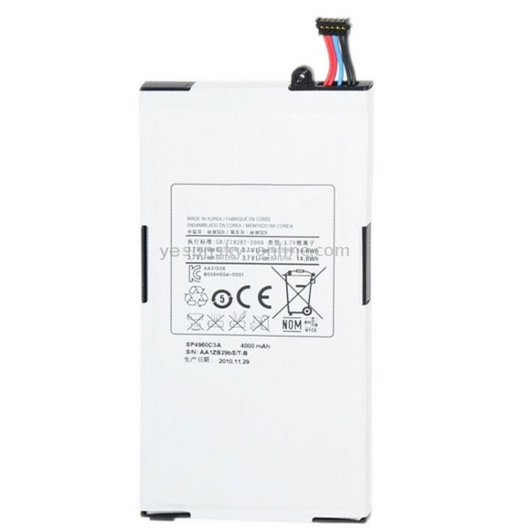 3.8V 4000mAh Rechargeable Li-ion Battery for Galaxy Tab P1010 <strong>P1000</strong>