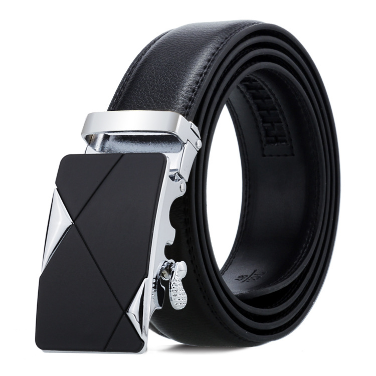 2020 new automatic buckle business Genuine Leather <strong>Belts</strong> for men fashion accessories plain black <strong>belts</strong> male casual luxury <strong>belt</strong>