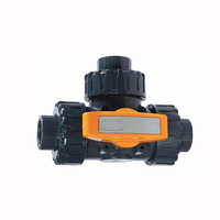 PVC electrical/ manual 3 way ball valve