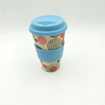 reusable bamboo fiber drinking cup bamboo travel coffee mug