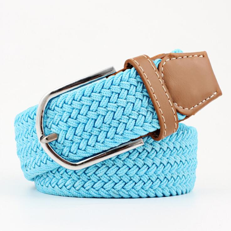 Colorful Polypropylene Nylon Braided Fabric Woven Stretch Elastic Belt For Fashion Women
