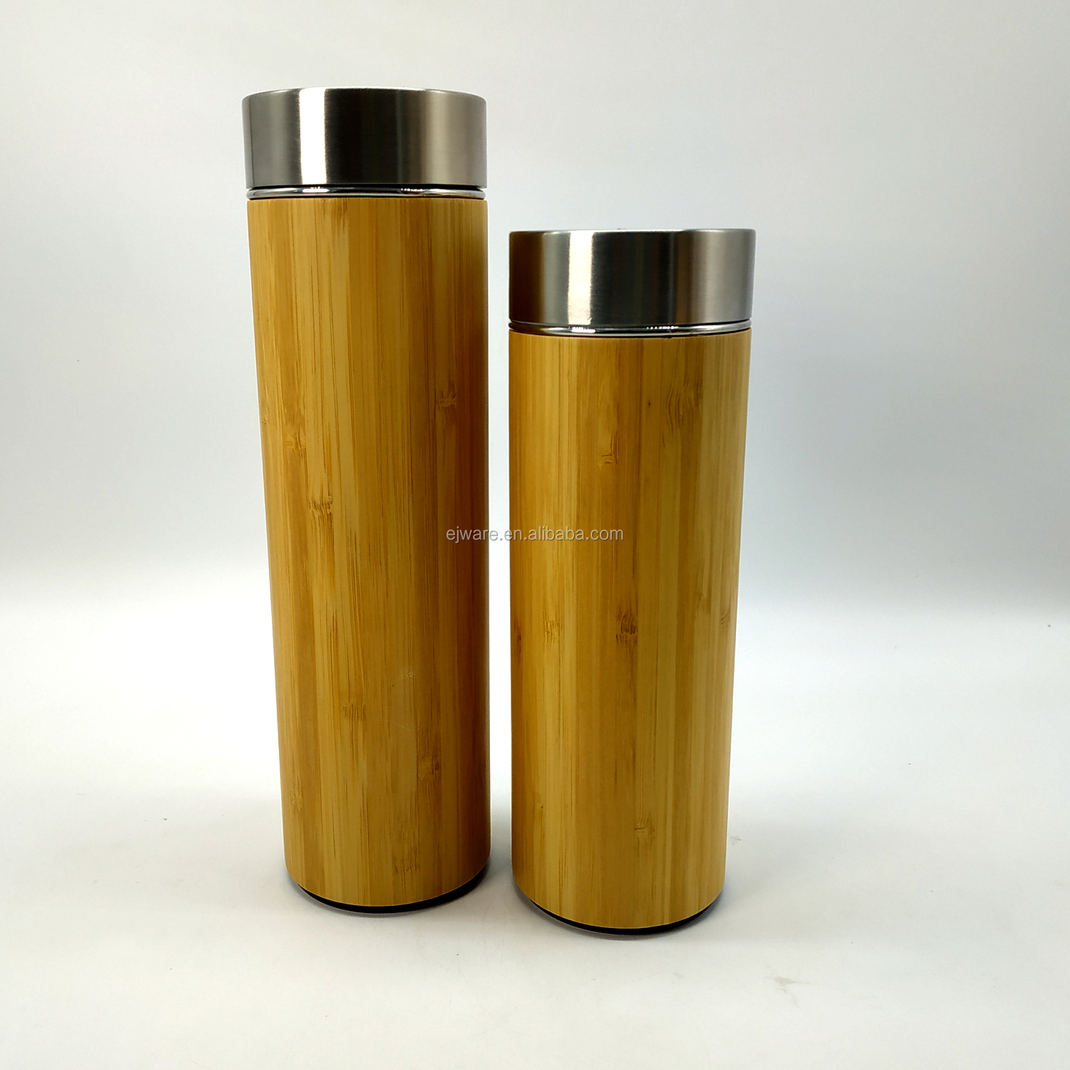 500ml Double Wall Bamboo Cover Coffee Thermal Stainless Steel Flask Bottle Vacuum Thermos Vacuum Flask