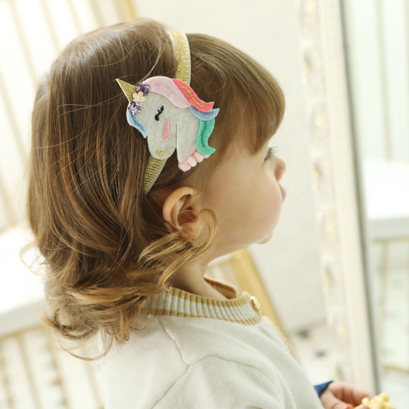 High quality unicorn birthday party supplies hair elastic kids <strong>headband</strong>