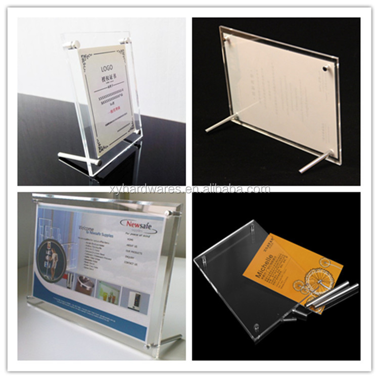 Customized Screw Standing Clear Acrylic Sheet Photo Frames With Screw