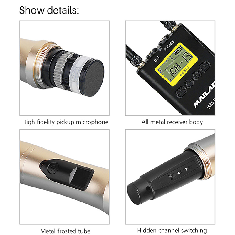 Mailada WM-<strong>D11</strong> <strong>Camera</strong> Microphone Professional Handheld Interview Microphone Video Photography Recording Lavalier Wireless Mic