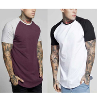 2019 China Manufacturing Cotton Mens Fit Curved Hem T Shirts Custom In Bulk Men's T-shirts
