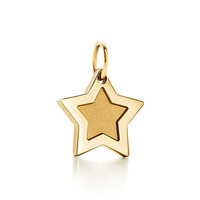 14k gold plating 925 silver lucky star jewelry pendant