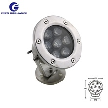 IP68 swimming pool lights 24V led underwater 7W spring spot light