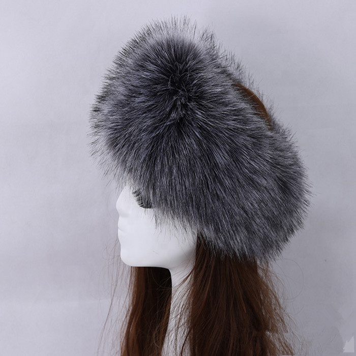 High Quality Wholesale Hair Accessories winter ladies womens russian warm faux fur <strong>headband</strong>