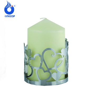 Valentine Day Gifts Heart Metal Pillar Candle Holder