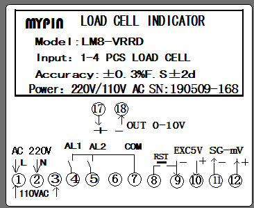 LM Load cell Indicator Weight indicator(MYPIN)