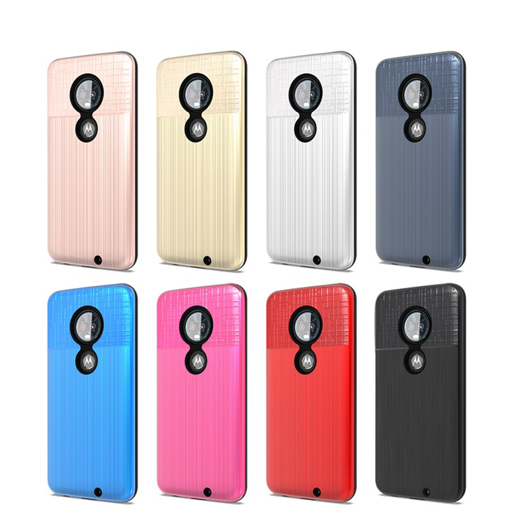 hybrid cloth brushed armor back cover case for Samsung Galaxy M20 Anti shock dual layer Case
