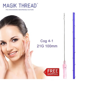 Cog 4-1 21G 100mm Magik thread china suppliers hilos pdo con canula for youthful beauty