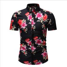 Summer New <strong>Men's</strong> Hawaiian <strong>Shirt</strong> Fashion Short Sleeved <strong>Men's</strong> Floral Printed Plus Size <strong>Shirt</strong>
