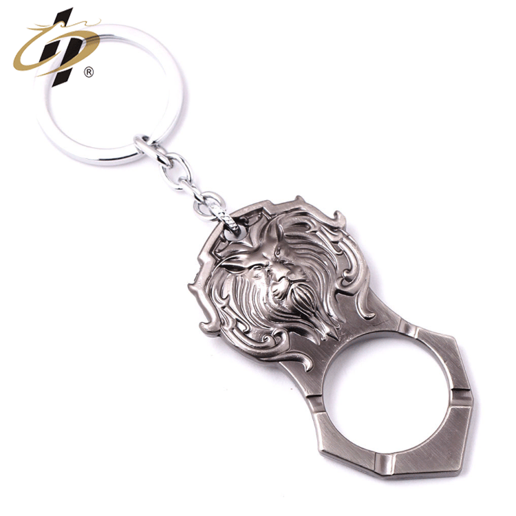Bulk item zinc alloy metal antique brass 3d bottle opener keychains with custom logo