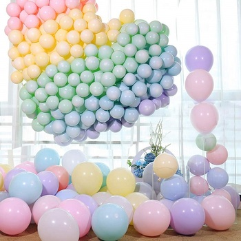 10 inch 2.2g China factory supply latex Macaron color balloons for wedding decoration