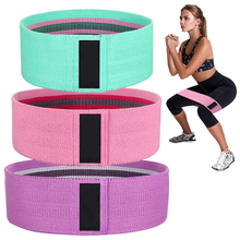 Custom Logo Set of 3 Exercise Fitness Hip Loop bands Fabric Booty Resistance Bands