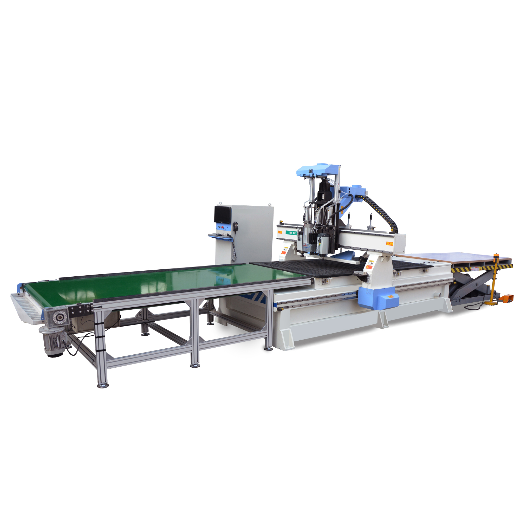 Furniture production line multipurpose woodworking router machine